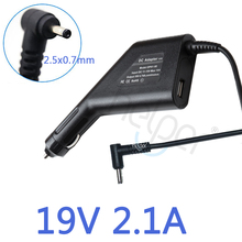 19V 2.1A Car Adapter Car Charger For ASUS Eee PC 1001HA 1001P 1001PX 1005HA 1016 1016P 1215PW 1215N 1005 1011PX 1005HAB(China)