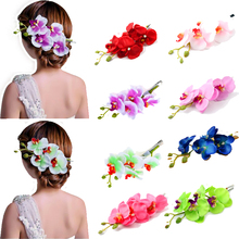 Hot Popular New Arrival Phalaenopsis Artificial Flowers Hair Accessories Hair Clip Studs Headwear Brides Headdress