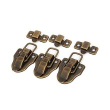 5x Furniture Suitcase Box Drawer Lock Chest Toggle Latch Hasp Bronze(China)