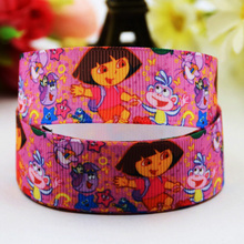 7/8'' (22mm) Dora Cartoon Character printed Grosgrain Ribbon party decoration ribbons OEM X-00814 10 Yards