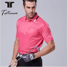 High Quality Golf T-shirt 3D Embroidery Men Brand T-shirts Custom Golf Polo Shirts for Man 5 colors S-2XL  Dry Fit Sport Shirt