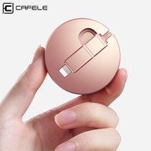 CAFELE Portable 2 in 1 Retractable Cable Micro USB Cable Type C Cable for iphone 7 6 Samsung S7 Huawei Honor 9 Xiaomi 5X Phones(China)