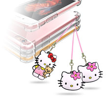1pcs/set Hello Kitty Mobile Phone Backpack Hanging Rope Pendant exquisite Ornament Cartoon Figure hang strap Lanyard decoration
