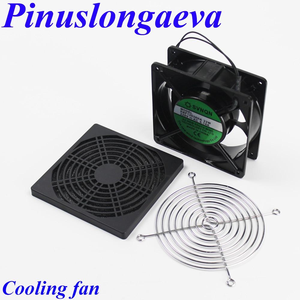 Pinuslongaeva Factory outlet 12cm 15cm AC110V 220V 380V 12038 15050 Low noise Ball bearing ozone machine cooling fan 120mm 150mm<br>