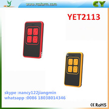 DHL free shipping cost !!! 100pcs duplicate 433.92mhz 4 button new design remote control for garage door(China)