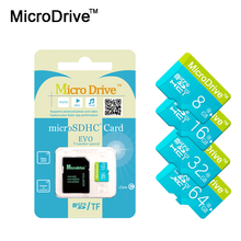 With retail package High-speed Green Micro sd card 64GB memory card 32GB class6 mini TF Card 4GB 8GB 16GB class10 microsd card