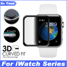 Full Body For iWatch Plating Tempered Glass For Apple Watch 38mm 42mm Full Cover 3D Curved Edge Fit Screen Protector Film
