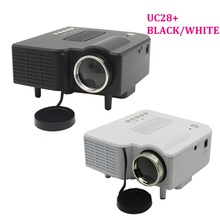 UC28/UC28+ 400 Lumens LED LCD Digital Projector Multimedia Home Cinema Theater beamer for DVD TV PC laptop support HDMI VGA USB(China)