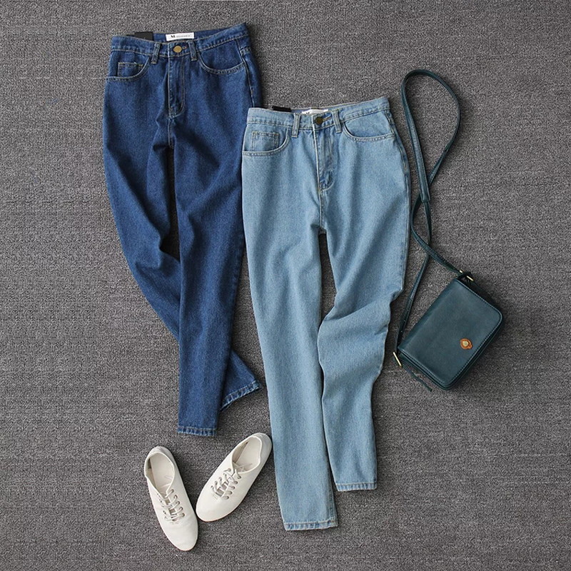 2017 Vintage Fit High Waist Ankle Length Jeans Women Washed Blue Denim Skinny Jeans Classic Pencil Pants 021604Одежда и ак�е��уары<br><br><br>Aliexpress