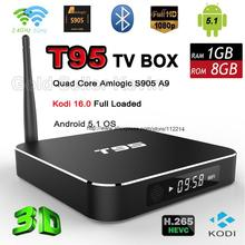Newest Metal Android 5.1 TV Box Amlogic S905 Quad Core RAM 1G ROM 8G Kodi 16.0 Dual Band Wifi Smart Mini PC with LED Display