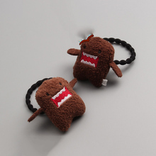 Creative Dimensional Plush Japan Domo-kun Girls Hair Accessories Princess Headwear Children Hair Ropes Kids Elastic Hair Bands