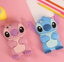 Cute Cartoon 3D Lilo & Stitch Silicone Phone Case cover For iPhone 7 7 Plus 4 4S 5 5S SE 5C 6 6S 6 Plus 6s Plus