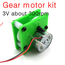 300 gear motor, diy small manufacture technology Solar four drive motor accessories kit