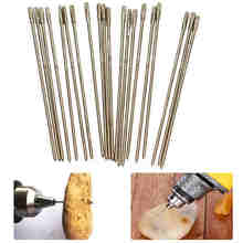 Mayitr 20pcs Solid Diamond Coated Drill Bits Hole Lapidary Needle Jewelry Agate Ceramic Glass Amber 1mm New(China)