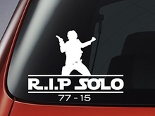 Car Styling for Star Wars Han Solo - R.I.P Solo 77 -15 - Car, Window, Wall, Laptop Sticker(China)