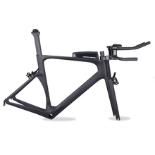 2017 New Design Aero triathlon Carbon TT Frame 700c Carbon Bike Frame BICICLETA 49 52 54 56 59cm Carbon Time Trial Frame(China)