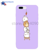 Ultra-thin Protect Covers For Iphone 6/6s/6s Plus/6plus/8/8plus Rabbit Get Carrot For Iphone Case 7 Plus Anti-Knock Covers(China)