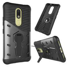 For Motorola Moto M / XT1662 Phone Case Shockproof 360 rotating swivel bracket Netted heat dissipation Armor Phone Case Cover