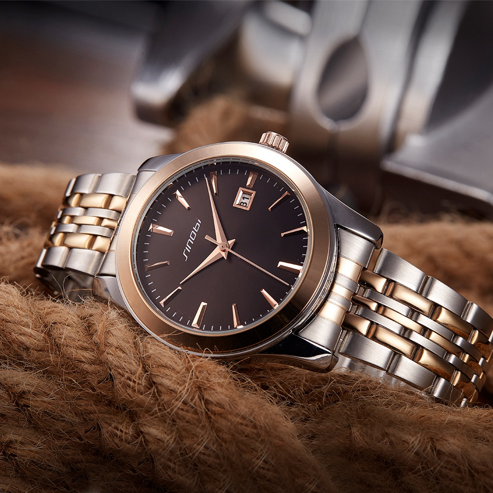 Sinobi Relogio Masculino Luxury Brand Business Analog Display Date Men  Quartz Watch Business Watch Men Wristwatch Couple Watch <br>