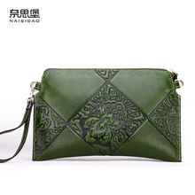 High quality  Genuine Leather Vintage female Shoulder Bag name brand large capacity fashion pattern Womens Wallets and Purses