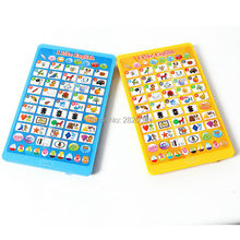 English language multifunction tablet computer toy,learning Word + Letter + Shape + Number kid education puzzle Y-pad toy(China)