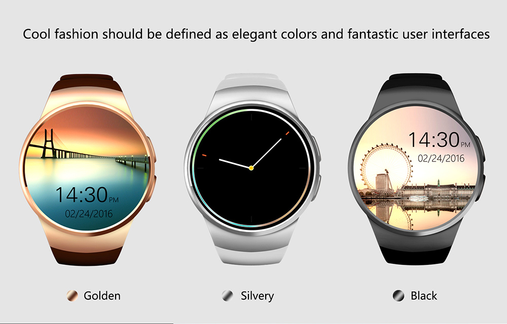 100% Brand New KW18 MTK2502 Android Bluetooth Smart Watch Phone TF Card SIM Heart Rate Smartwatch Support IOS Android MP3 MP4