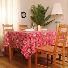 New Arrival 100% Cotton Red/ Blue Table Cloth Traditional Chinese Style For Dining Table/ Party/ Wedding  Accept Customized
