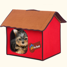 Portable Folding Pet Dog Cat Cushion House Tent Mat Include for indoor outdoor,Warm Ger Kennel For small Dogs Cats M
