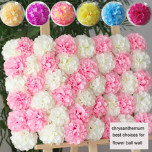 50pcs/lot 11cm Chrysanthemum ball flower head artificial silk flower ball wall wedding party photo-taking background flower