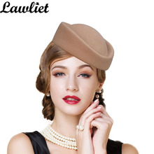 Fascinator Hats for Women Beret Wool Felt Winter Pillbox Hat Cocktail Party Wedding Fedoras Stewardess Ladies Millinery Hat Base(China)