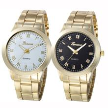 Fashion gold watch 2017 luxury brand cheap watches Stainless Steel Sport Quartz Hour Wrist Analog Watch montre femme
