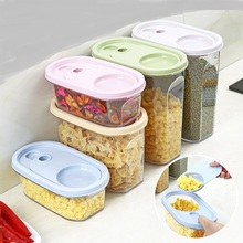 Kitchen with spoon Food Storage Box Storage Tank Airtight Plastic Containers Sealed Cans For Coarse Cereals grains