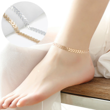 Simple Style Sexy Women Gold Silver Arrow Ankle Chain Anklet Bracelet Barefoot Foot Jewelry Beach Accessories