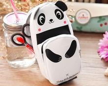 Cute panda pattern pencil box multifunctional cortex box 02358