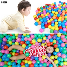 100PCS Eco-Friendly Colorful Ball Soft Plastic Ocean Ball Funny Baby Kid Swim Pit Toy Water Pool Ocean Wave Ball Dia 5.5cm