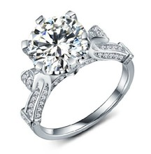 CHARLES COLVARD 3CT Moissanite Diamond Women Engagement Ring Clarity VVS1 Man Made Top Quality Last Forever(China)
