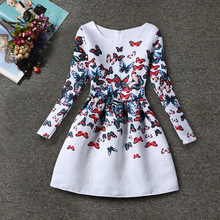 Kids Floral Rose Butterfly Print Dresses for Girls Princess Dress Spring Girl Party Dress Children Wedding Dress Girls Clothes