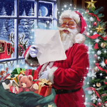 Santa Claus With Gift list Diamond Painting Mosaic Rhinestone Crystal DIY Painting Cross Stitch Diamond Embroidery Home Decor