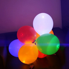 Led light balloons Led ballon Latex balloons for Wedding and Party Decoration Mixed Colors