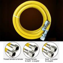 "G1/2"" 300cm Yellow Protection Stainless Steel Corrugated Gas Pipe Hose(China)"