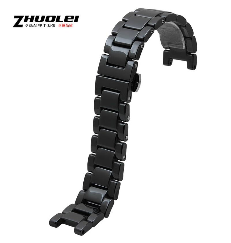 Watch band 18mm 20mm Black Ceramic Strap Band Belt Bracelet<br>