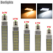 Lampada E27/G23/G24 Horizontal Plug Light SMD5050 9W/12W/13W/15W/16W AC85~265V Bombillas LED Bulb Spot Light LED Lamps(China)