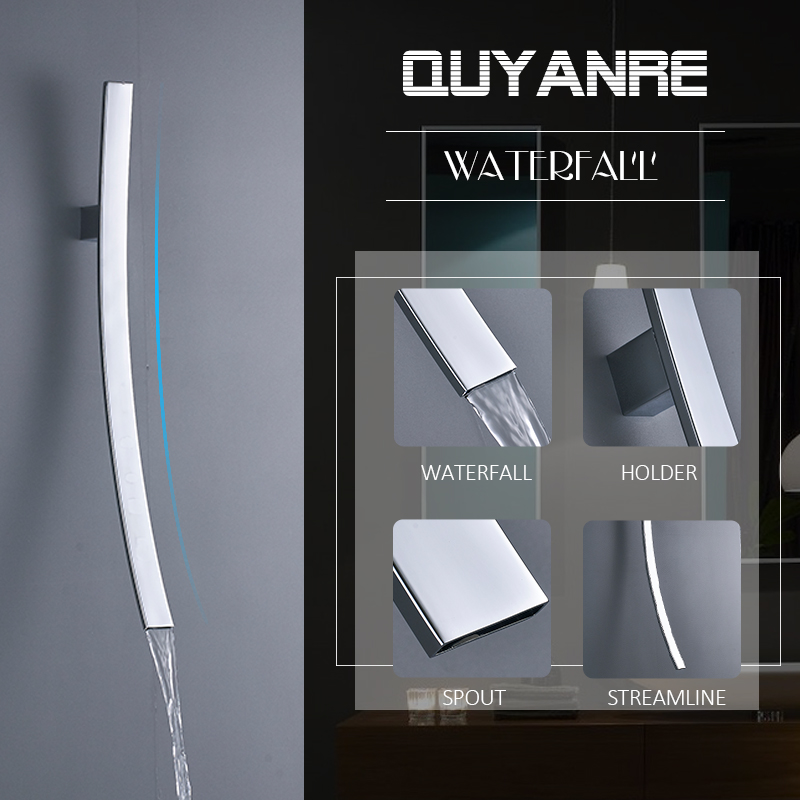 quyanre wanfan frap gappo in wall mounted long spout basin faucet single handle mixer tap bathroom basin faucet waterfall spout1