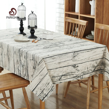 ParkShin Vintage Wood Grain Table Cloth Simulation Patterned Rustic Tablecloth Rectangle Washable Table Cover nappe