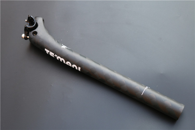 Temani Newest 12K Mountain Bicycle Carbon Seatpost Road Carbon Fibre Bike Seatposts 27.2 30.8 31.6*350mm<br>