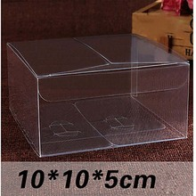 Wholesale 10*10*5cm PVC Clear Rectangle Box Packing Custom Gift Boxes Candy/Cake/Soap/Cookie/Cupcake packaging Box(China)
