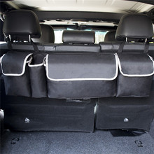 Car Trunk Organizer Adjustable Backseat Storage Bag High Capacity Multi-use Oxford Car Seat Back Organizers Interior Accessories(China)