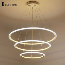 New Modern 3 Circle rings LED Pendant Lights For Living Room Dining room LED Lustre Pendant Lamp Hanging Ceiling luminaire(China)