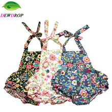 new 2016 baby rompers girl sell like hot cakes baby romper 100% Cotton baby costume rattan flower pattern with bow headband