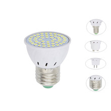 4W 6W 8W E27 E14 GU10 MR16 AC 220V LED Lamp Spotlight 48LED 60LED 80LED 2835 SMD bulb Chandelier Replace Halogen Lights Lighting